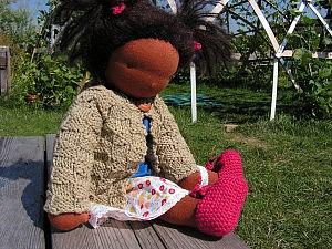 Maja Puppe nach Waldorfart