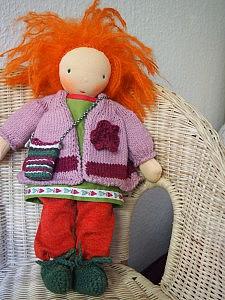 Frieda Puppe nach Waldorfart